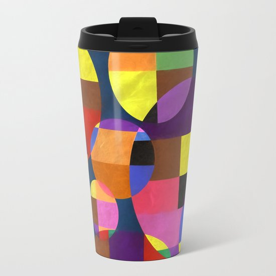 Abstract #372 Metal Travel Mug