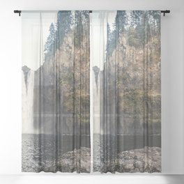 Snoqualmie Waterfall Sheer Curtain