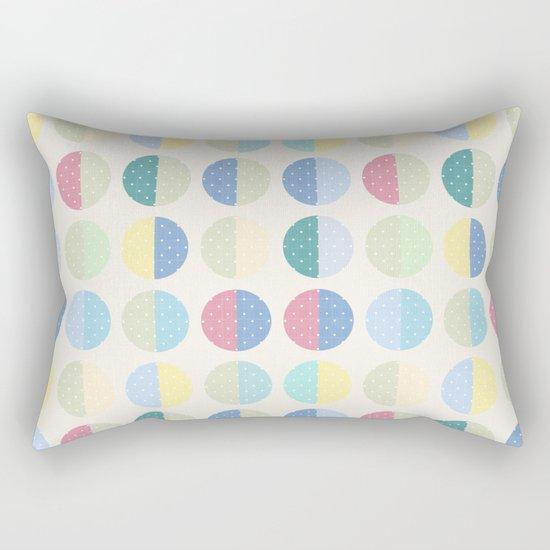 Retro . The pattern is polka dot . Rectangular Pillow