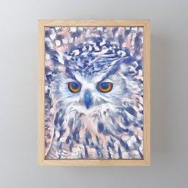 Fluffy Owl Framed Mini Art Print