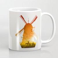 giants Mugs featuring Fighting Giants (light version) by DV designstudio