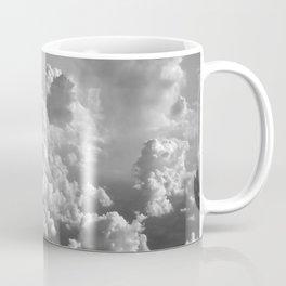 Light Dancing through Soft Clouds - Black and White Coffee Mug