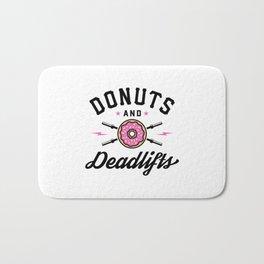 Donuts And Deadlifts v2 Bath Mat