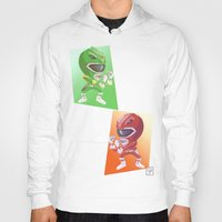 power rangers Hoodies featuring Mighty Fightin' Power Rangers by garciarts
