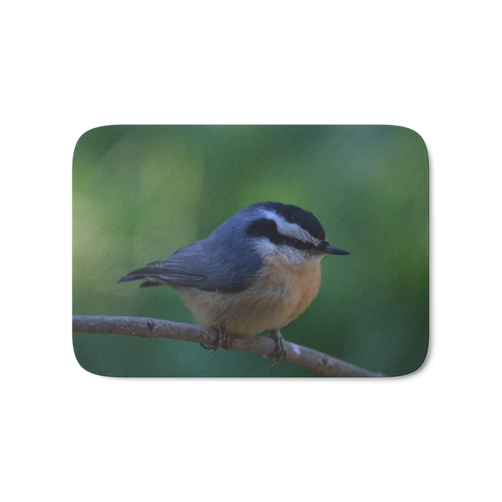 A Red Breasted Nuthatch Bath Mat by stuwillard (BMT671256) photo
