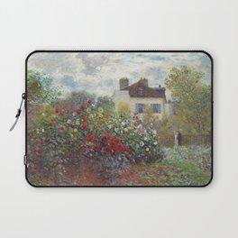 Claude Monet - The Artist's Garden in Argenteuil, A Corner of the Garden with Dahlias Laptop Sleeve