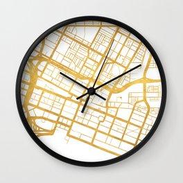 PERTH AUSTRALIA CITY STREET MAP ART Wall Clock