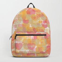 Orange red hearts Backpack