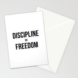 Discipline Equals Freedom Stationery Cards