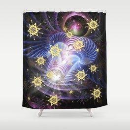 Fractal Enegy Bursts Shower Curtain