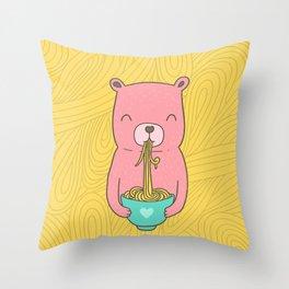 Noodle Bear Throw Pillow