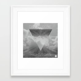 Highs//Lows Framed Art Print