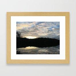 Adirondack Sunset Reflective Lake Framed Art Print