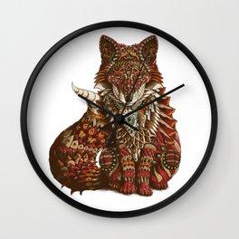 Red Fox (Color Version) Wall Clock