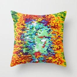 Depressive Doppler Deluge Throw Pillow