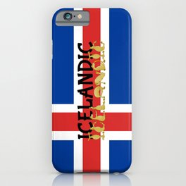 Icelandic Horses Cartoon iPhone Case