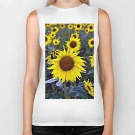 Sunflower Poetry Biker Tank