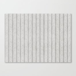 Mud cloth - Grey Arrowheads Canvas Print