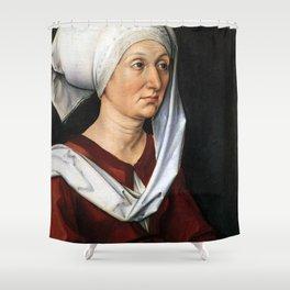 Portrait of Barbara by Albrecht Dürer Shower Curtain