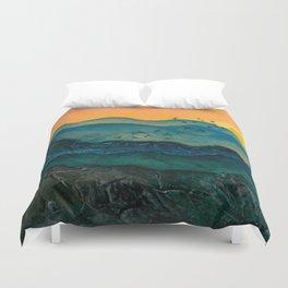 Textured mountainscape Duvet Cover