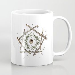 nature mandala... beech sticks, hemlock needles, quail egg Coffee Mug
