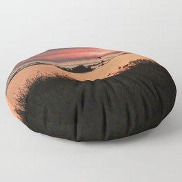 Serene Sunset Floor Pillow