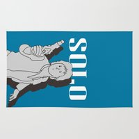 han solo Area & Throw Rugs featuring Solo by Janko Illustration