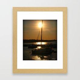 Seeping Sun Framed Art Print