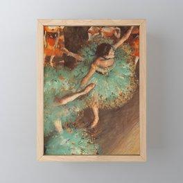 The Green Dancer 1879 By Edgar Degas   Reproduction   Famous French Painter Framed Mini Art Print