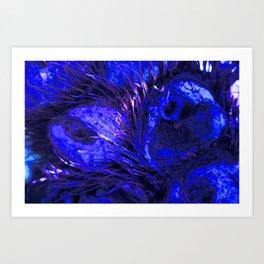 Blue Owly DPG170707a RB Art Print