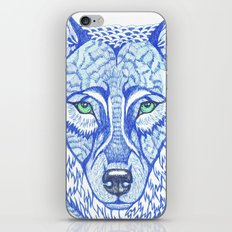 ice wolf iPhone Skin