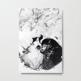 Ink in Milk Black and White liquid Nr.04 Metal Print