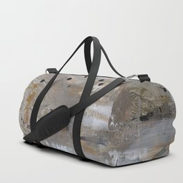 Silver and Gold Abstract Duffle Bag