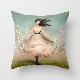 Butterfly Dress Throw Pillow