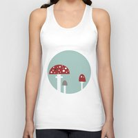 mushrooms Tank Tops featuring mushrooms by liva cabule