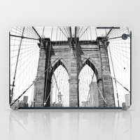 brooklyn bridge iPad Cases featuring Brooklyn Bridge by MadameBrightside
