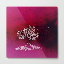 Wind On a Pink Day Metal Print