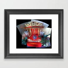 Buddhist Shrine at J. Wong's Asian Bistro in Downtown Salt Lake City, September 2012 Framed Art Print