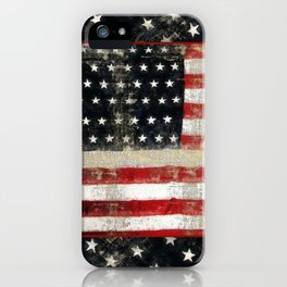 USA Flag ~ American Flag ~ Distressed Pattern ~ Ginkelmier Inspired iPhone Case