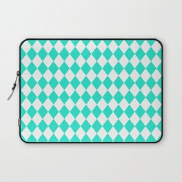Aqua Gift Box Modern Diamond Pattern Laptop Sleeve