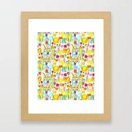 Childhood Butterfly's in a Spring Garden Framed Art Print