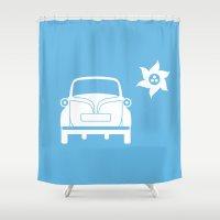 bmw Shower Curtains featuring BMW Isetta by Clemens Hellmund