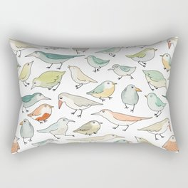 birds outside my window Rectangular Pillow