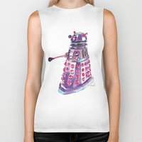 dalek Biker Tanks featuring Dalek by BlueAcorn