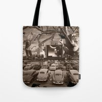 nightmare Tote Bags featuring Nightmare by Kiki collagist