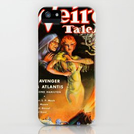 The Avenger From Atlantis - Vintage Pulp Poster iPhone Case