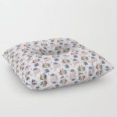Trick or Treat Floral Pattern Floor Pillow