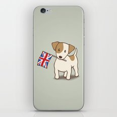 Jack Russell Terrier and Union Jack Illustration iPhone & iPod Skin