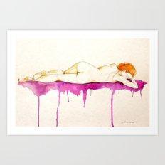 Sueño II watercolor acuarela Art Print
