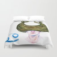cancer Duvet Covers featuring Cancer by Aloke Design